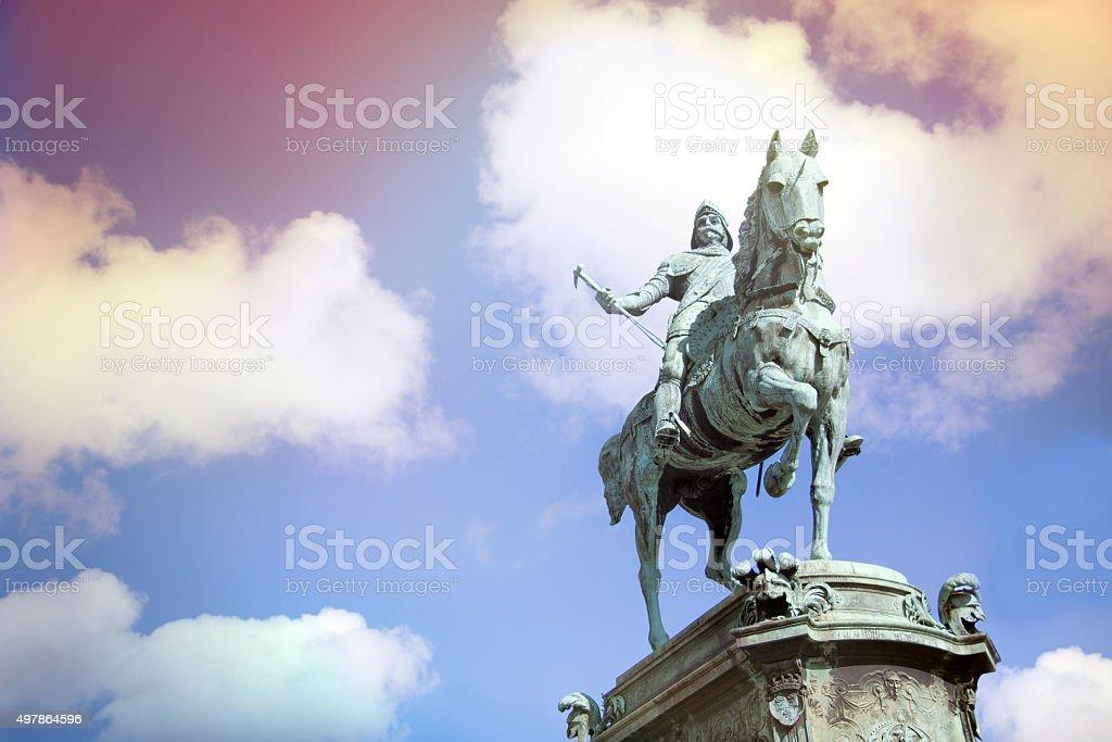 Statue of Karl IX - Stock Image stock photo