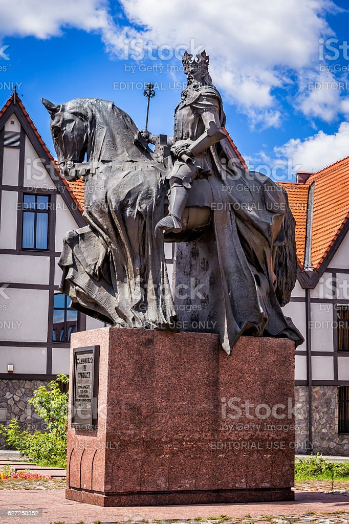 Statue of King Casimir the Great stock photo