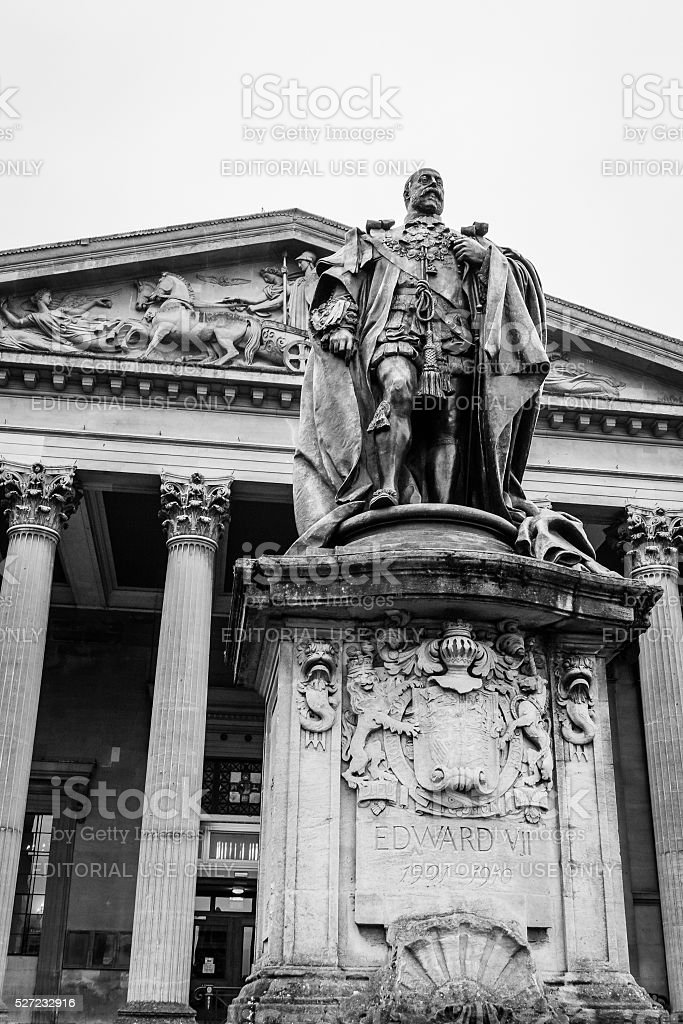 Statue of King Edward VII stock photo