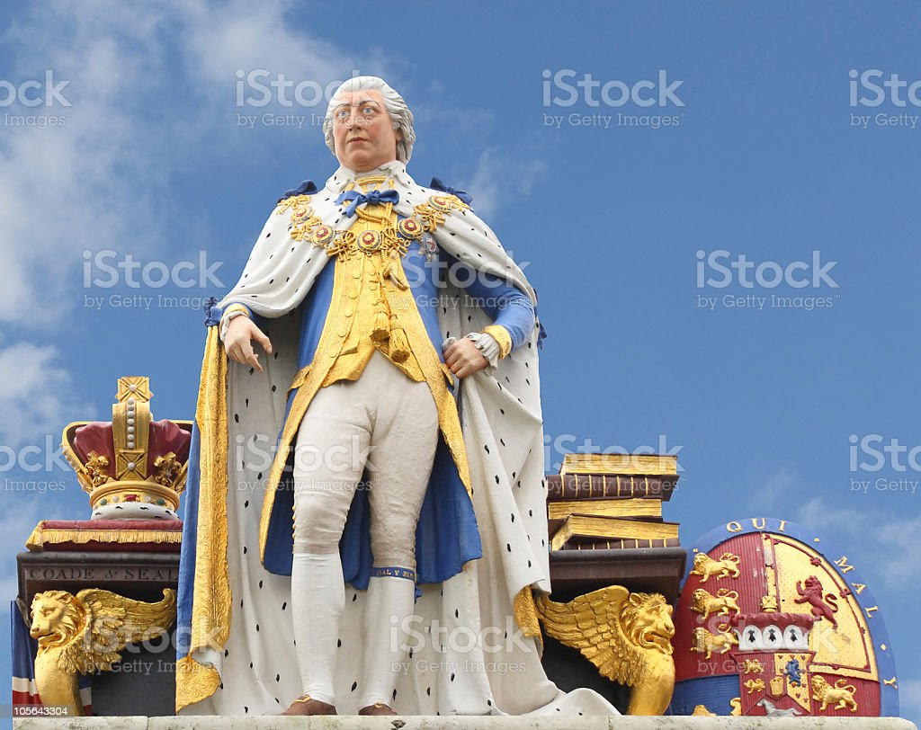 Statue of King George III, Weymouth, England royalty-free stock photo