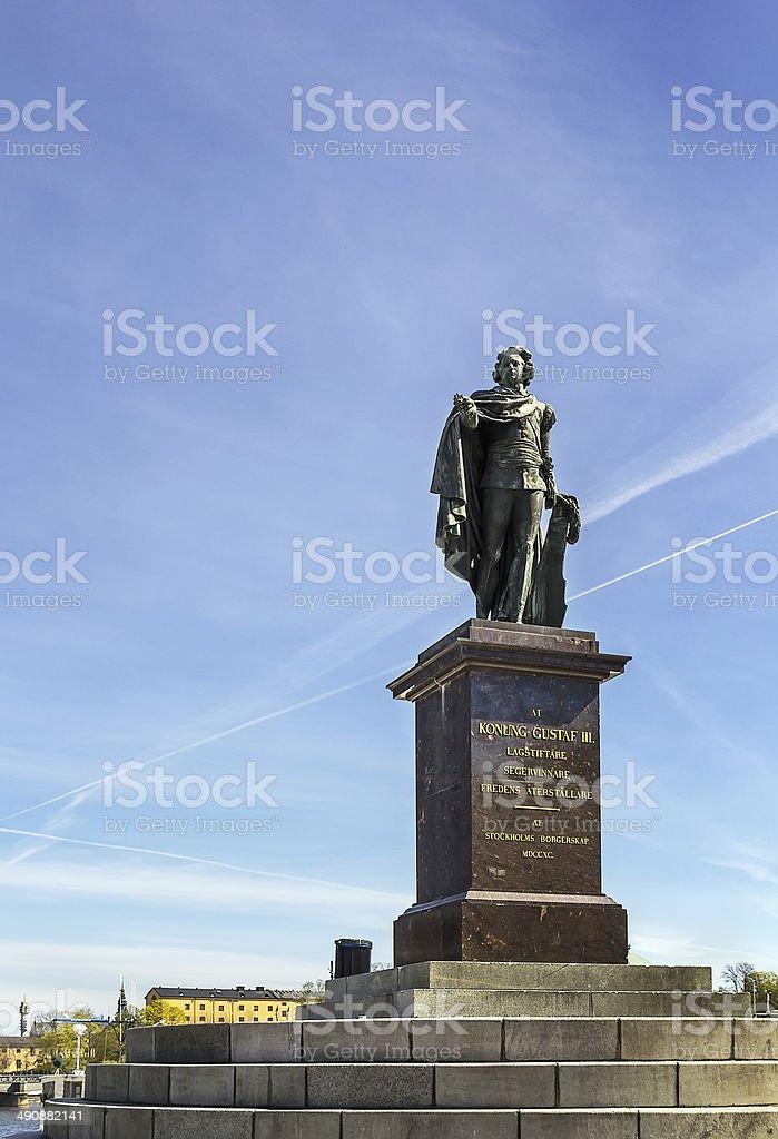 Statue of king Gustav III, Stockholm stock photo