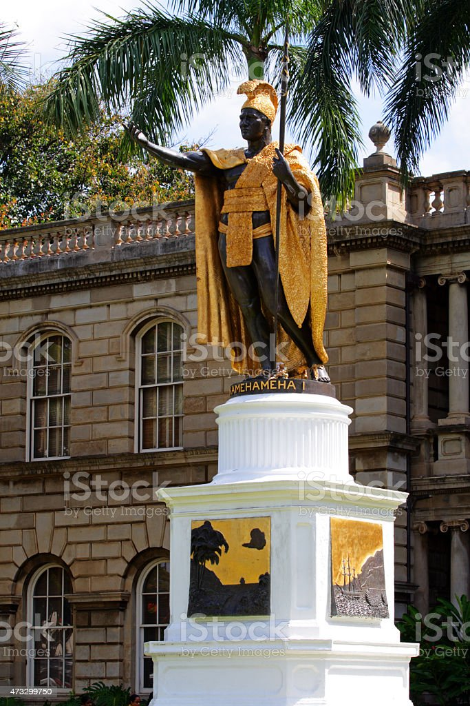 Statue of King Kamehameha, Honolulu, Hawaii stock photo