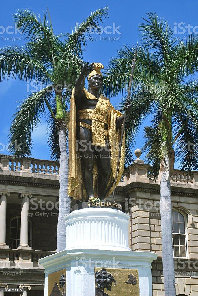 Statue of King Kamehameha royalty-free stock photo