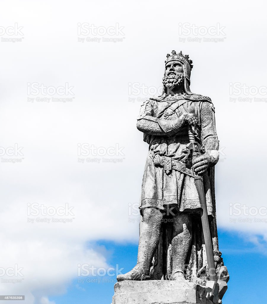 Statue of King Robert the Bruce of Scotland stock photo
