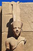 Statue of king tut, karnak temple in Egypt