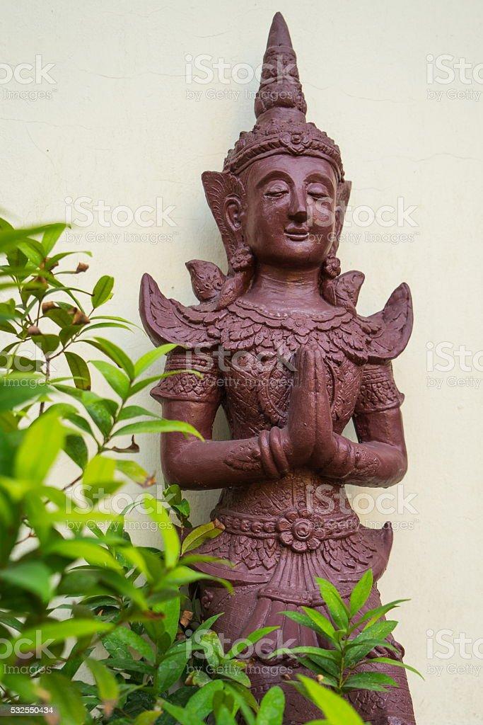 statue of Kinnaree stock photo