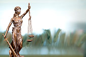Statue Of Lady Justice In An Office