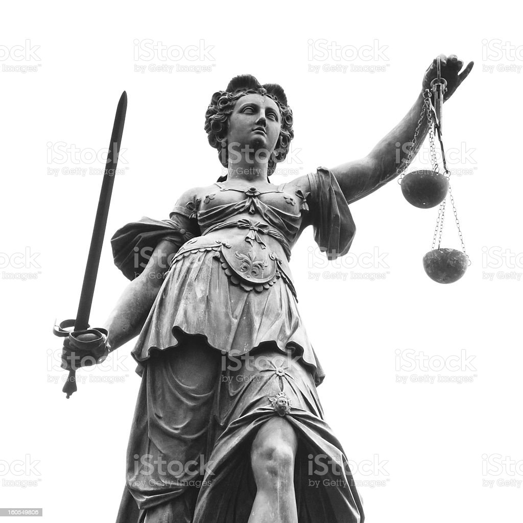 Statue of Lady Justice (Justitia) royalty-free stock photo