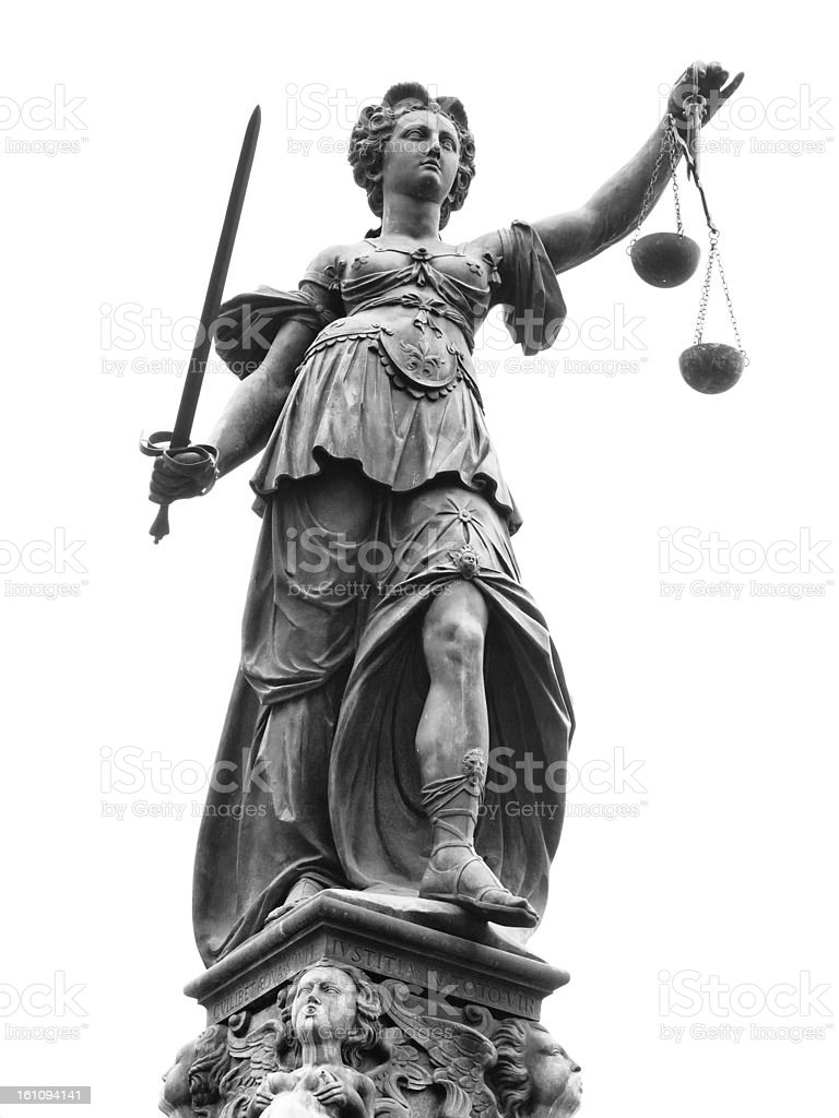 Statue of Lady Justice (Justitia) stock photo