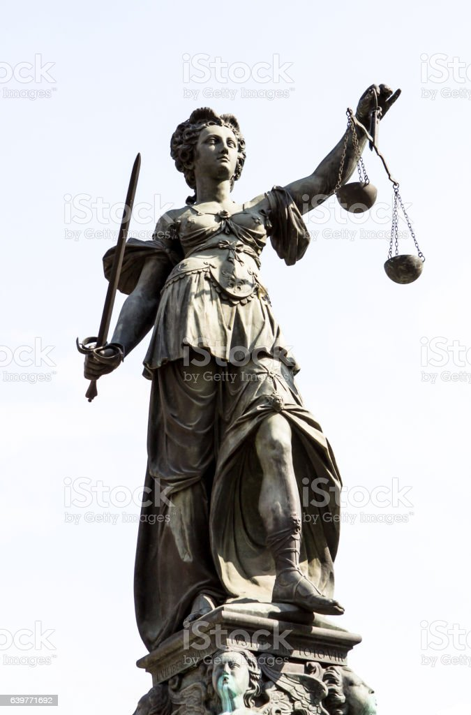 Statue of Lady Justice stock photo