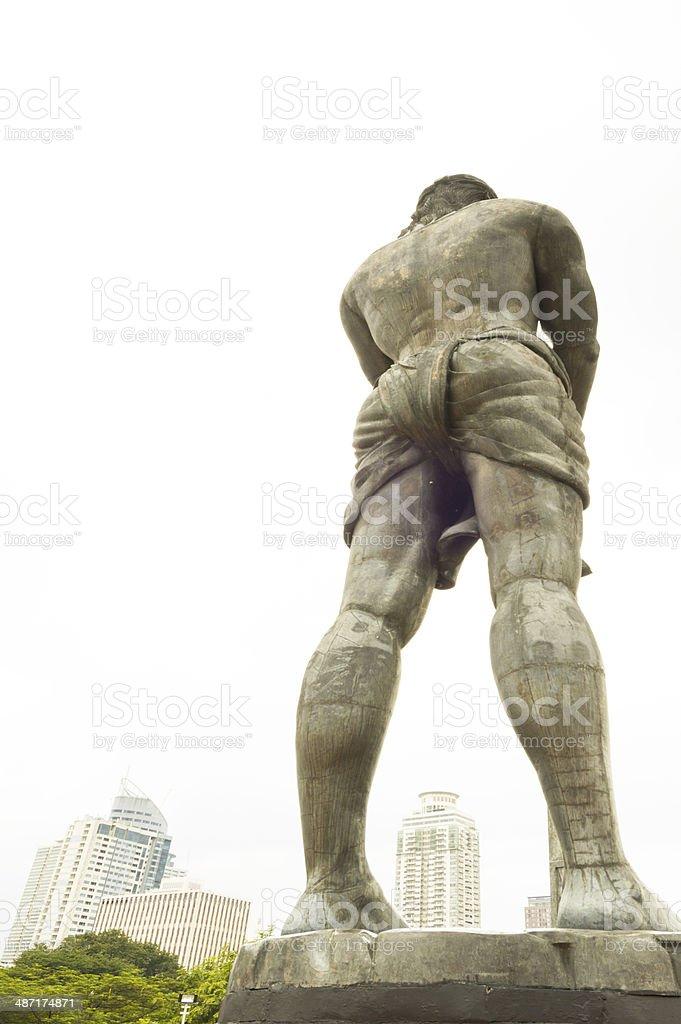 statue of Lapu-lapu, in Luneta park, Metro Manila, Philippines stock photo