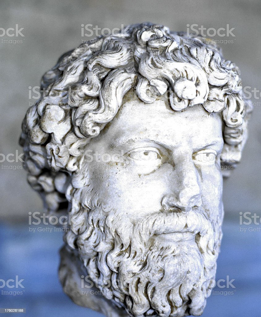 Statue of Learning Athens University royalty-free stock photo