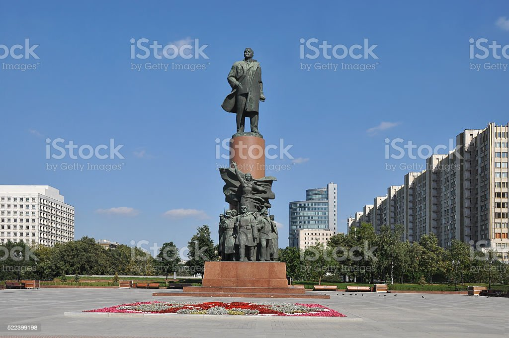 Statue of Lenin in Moscow stock photo