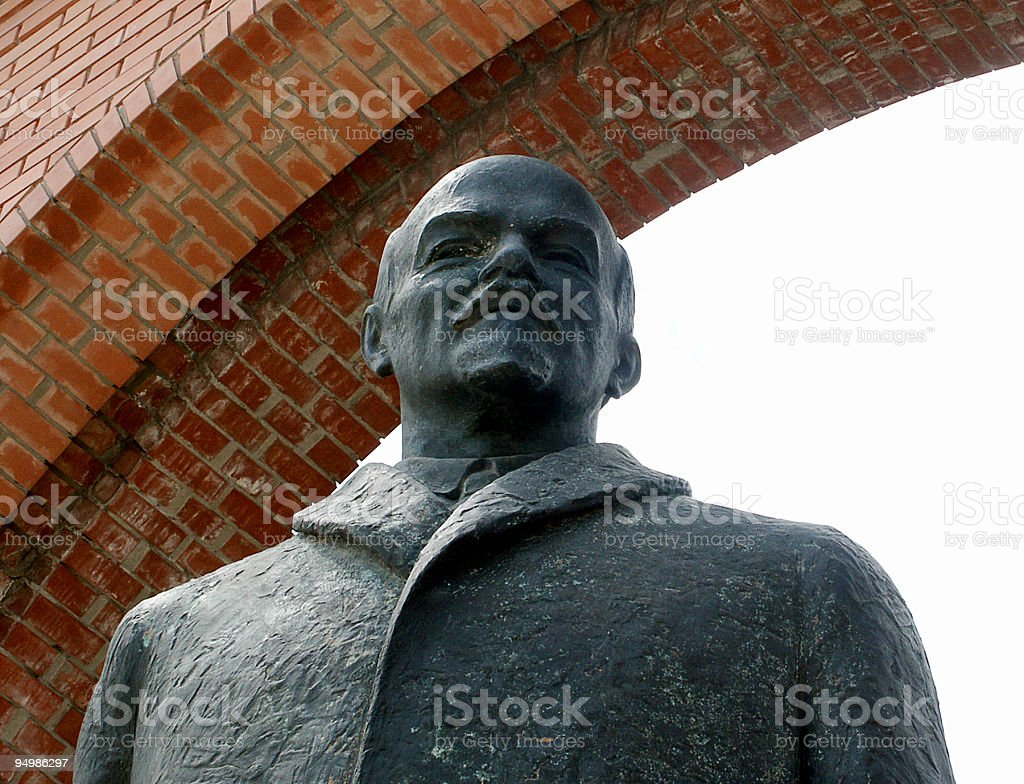 Statue of Lenin royalty-free stock photo