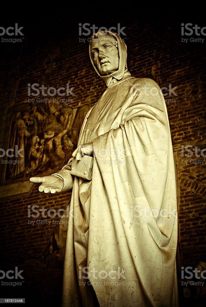 statue of Leonardo Fibonacci stock photo