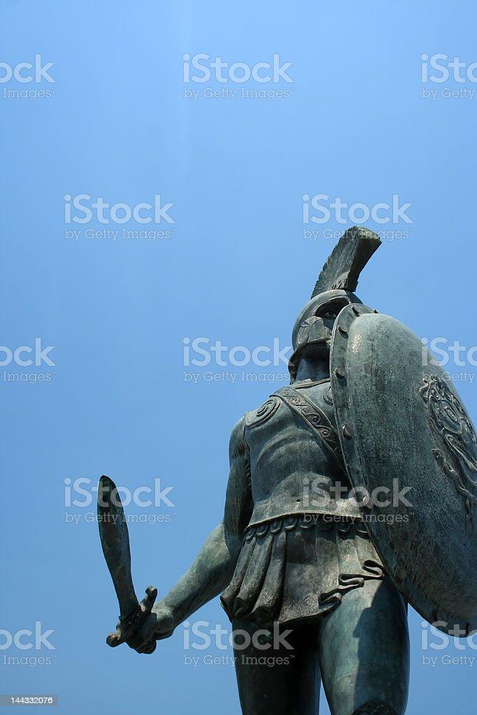 Statue of Leonidas in Sparta, Greece stock photo