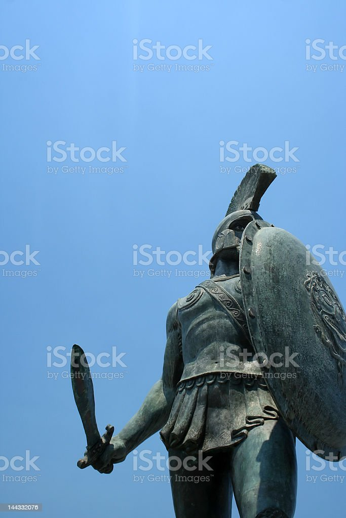 Statue of Leonidas in Sparta, Greece stock photo