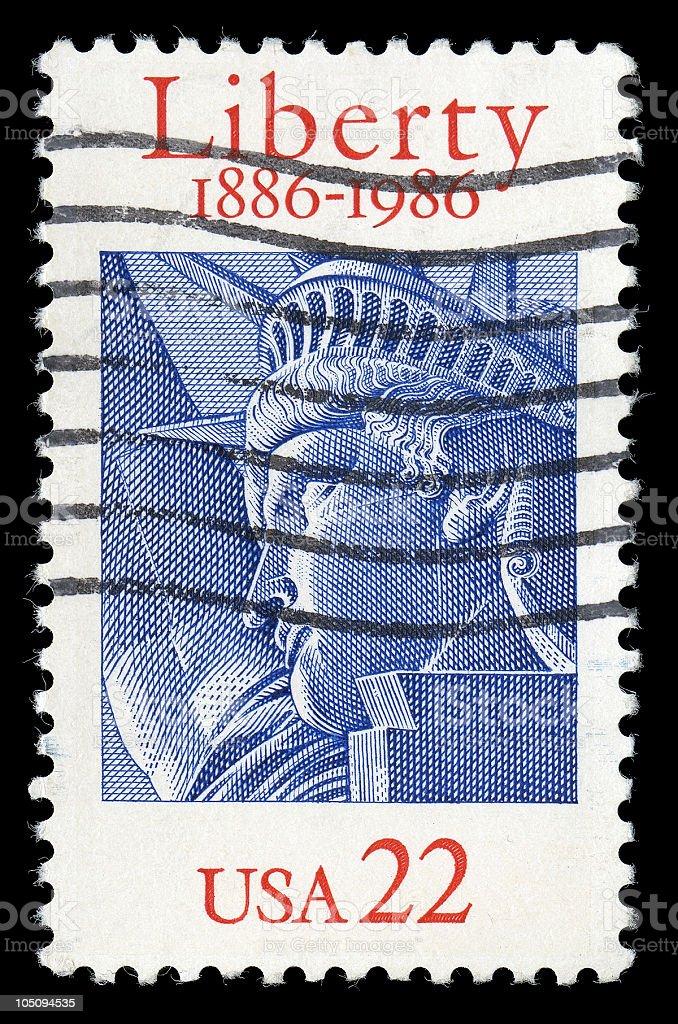 Statue of Liberty Anniversary Stamp stock photo