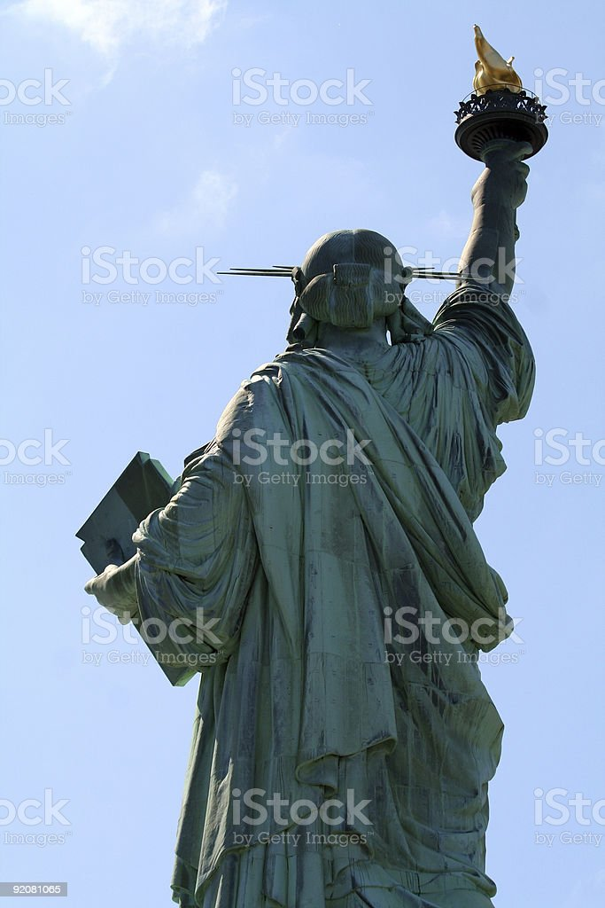 statue of liberty back royalty-free stock photo