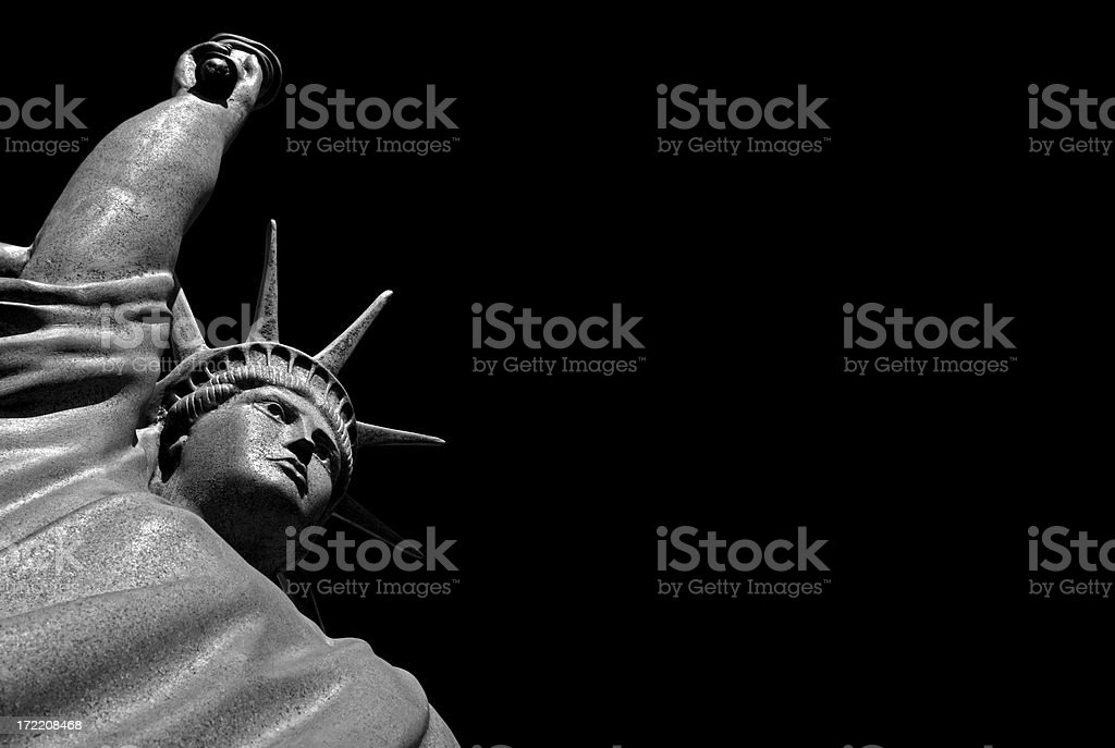Statue of Liberty by night royalty-free stock photo