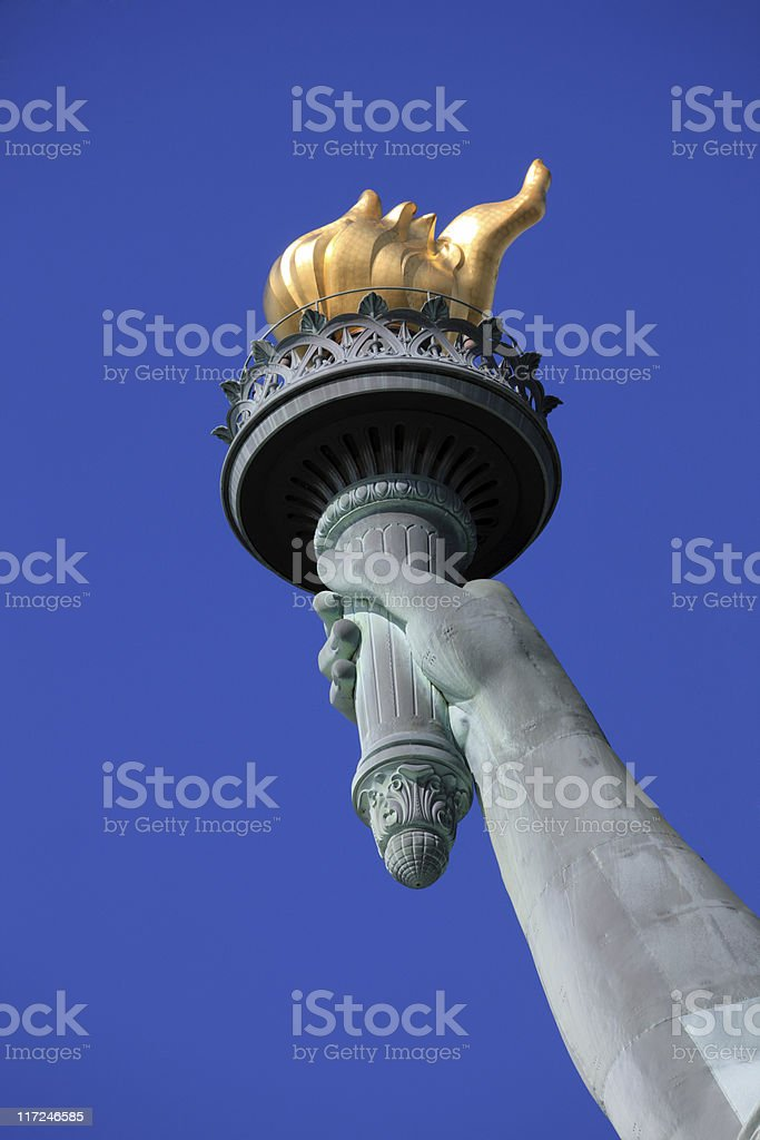 Statue of Liberty - close up stock photo