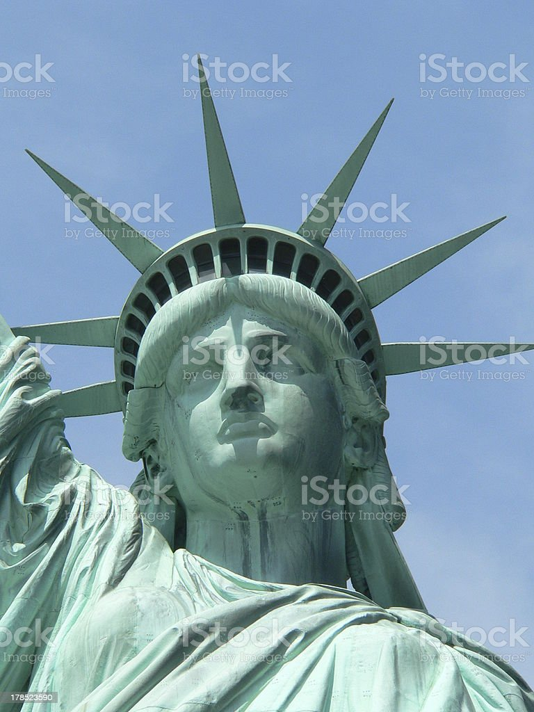 Statue of liberty close up stock photo