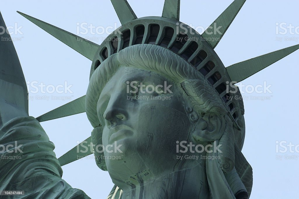Statue of Liberty, close-up royalty-free stock photo