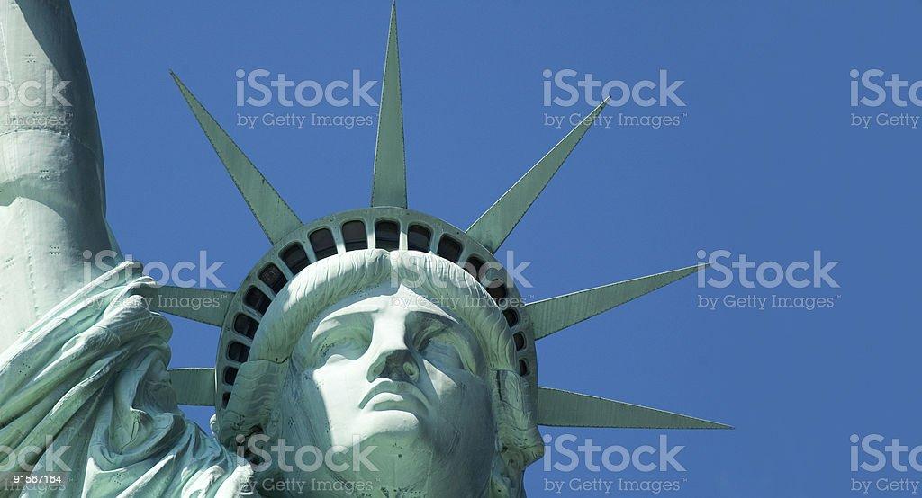 Statua della Libertà-Face e corona primo piano foto stock royalty-free