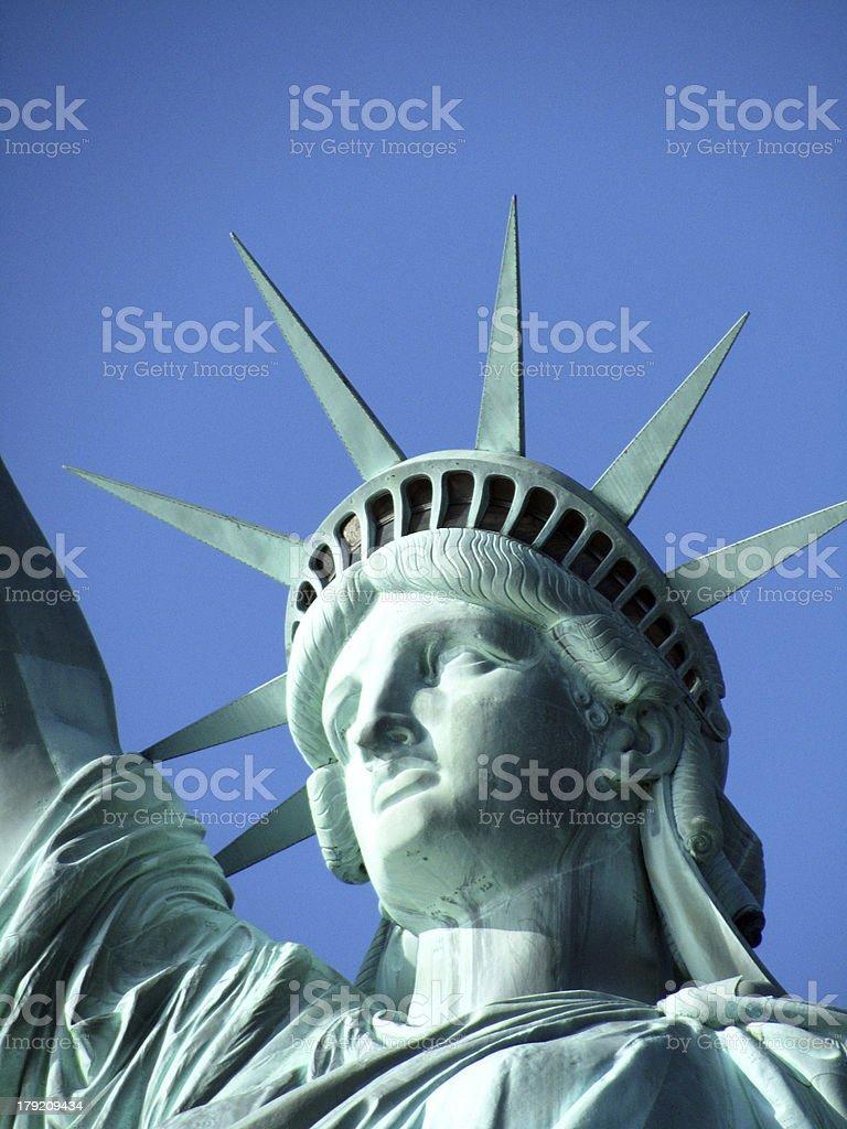Gros plan du visage de Statue de la Liberté photo libre de droits