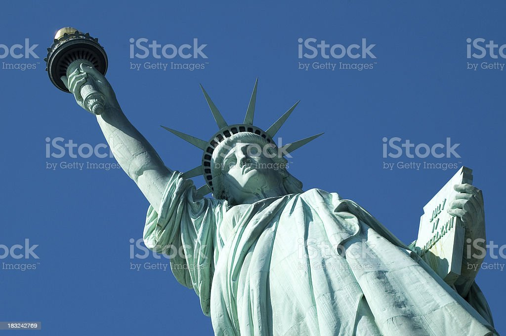 Statua della Libertà-Face, torcia, Tablet foto stock royalty-free