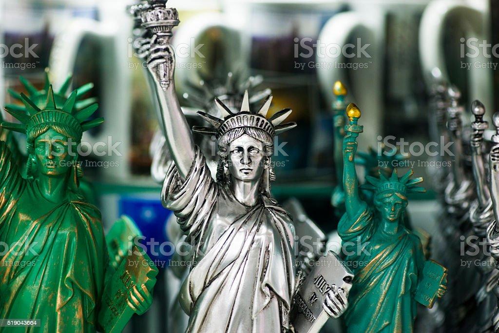 Statue of Liberty figurine stock photo