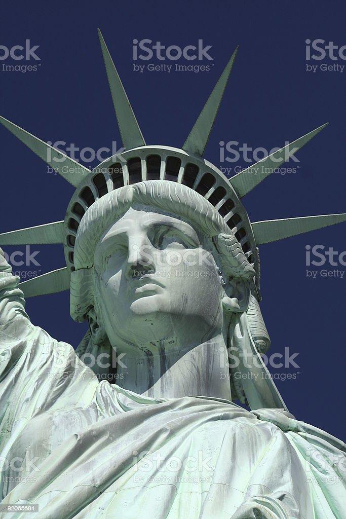 statue of liberty head royalty-free stock photo