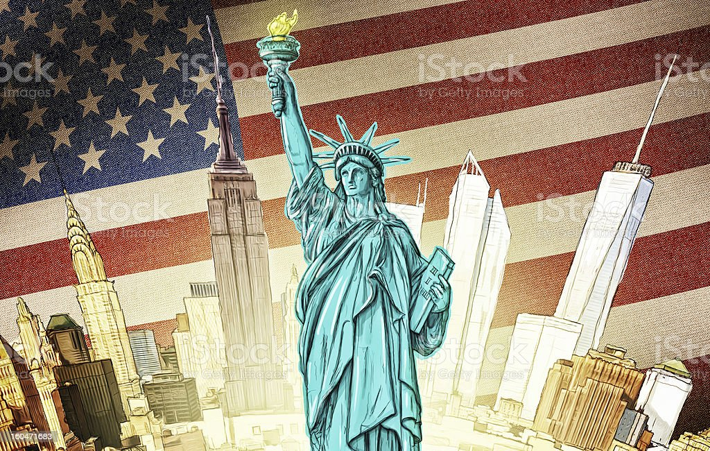 Statue of Liberty - Illustration royalty-free stock photo