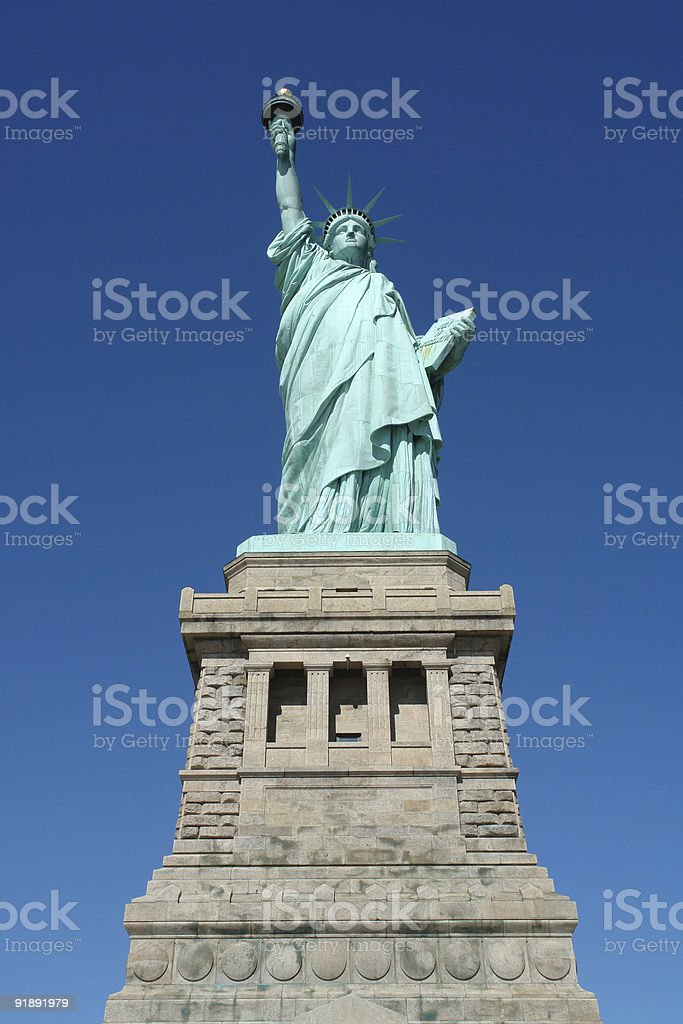 Statue of liberty in March 2006 royalty-free stock photo