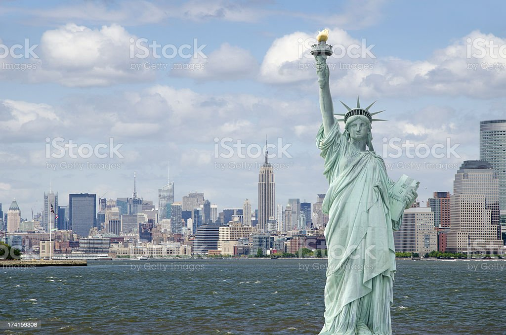 Statue of Liberty in New York City royalty-free stock photo