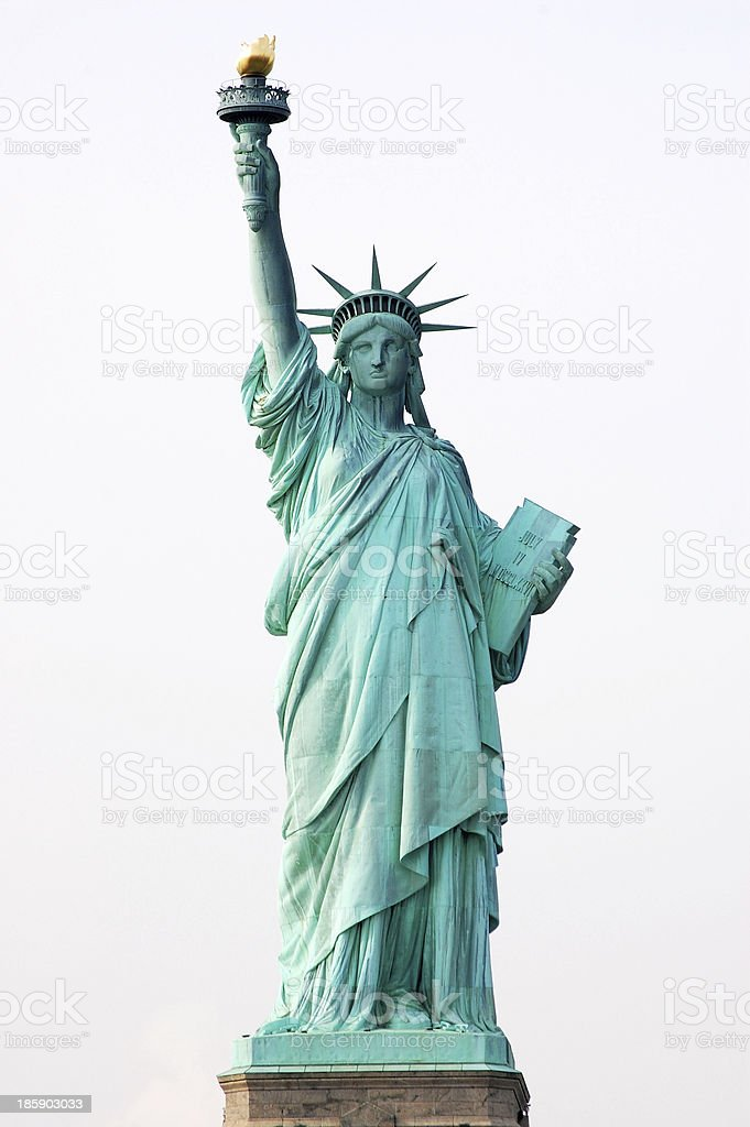 Statue of Liberty in New York City stock photo