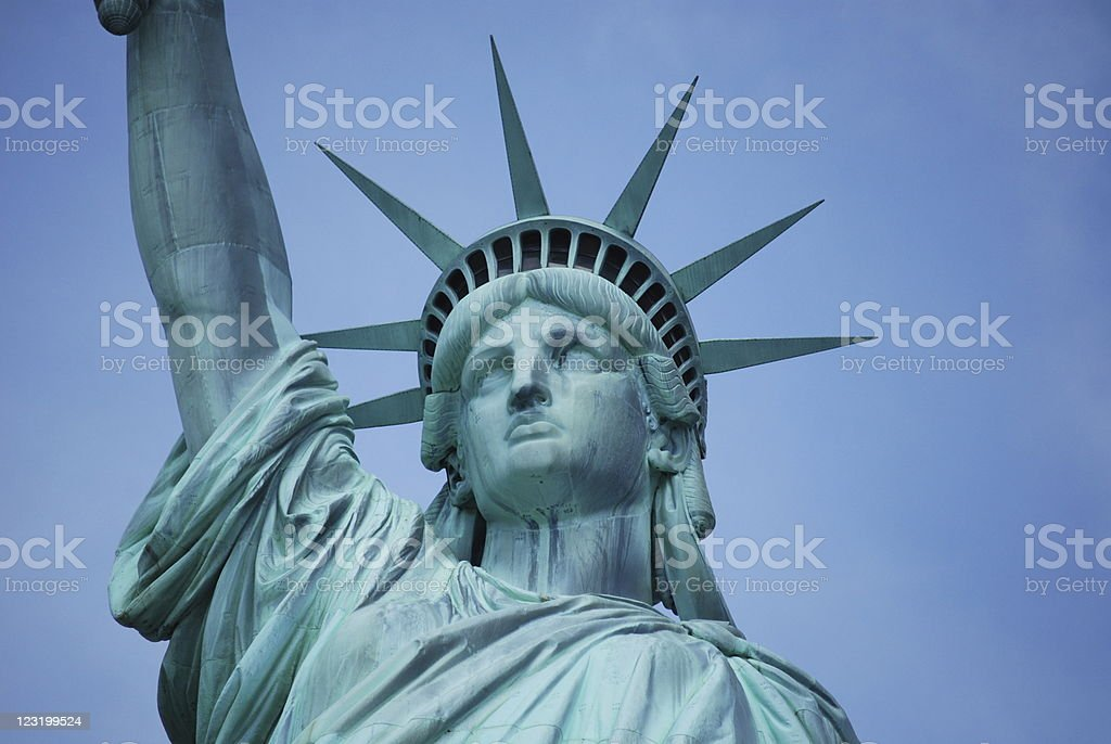 Statue of Liberty  in New York Harbor royalty-free stock photo