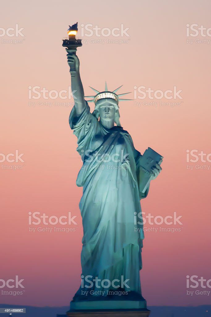 Statue of Liberty in New York stock photo