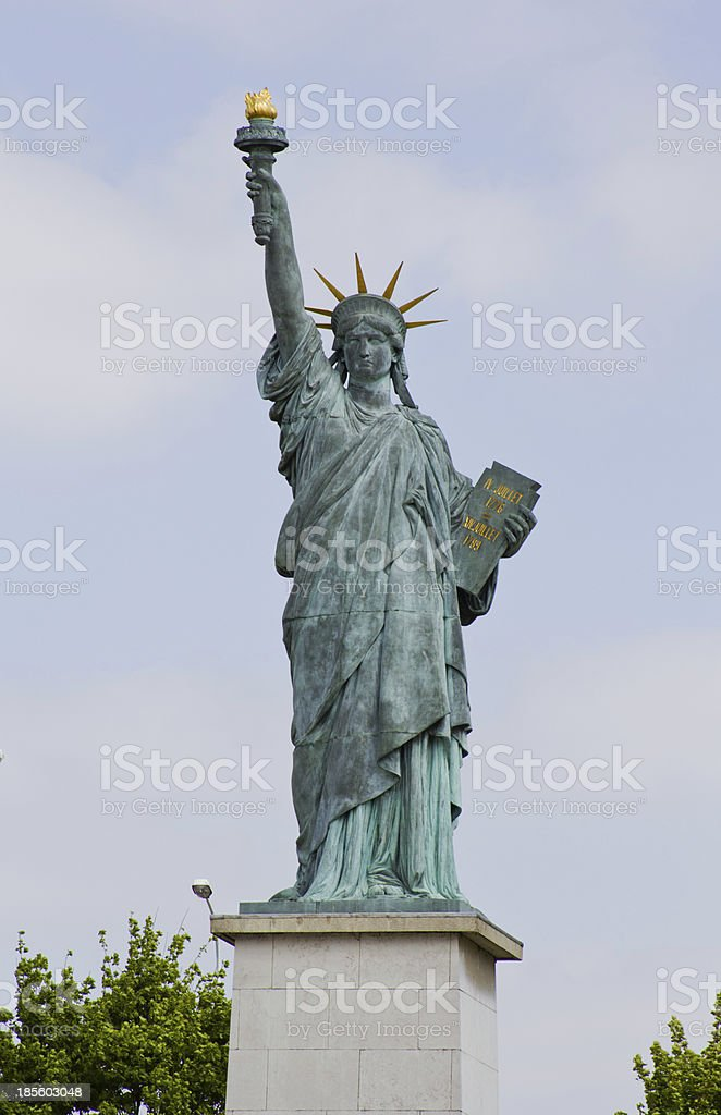 Statue of Liberty in Paris royalty-free stock photo