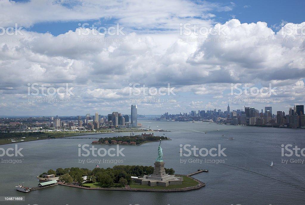 Statue of Liberty, Manhattan, New York royalty-free stock photo