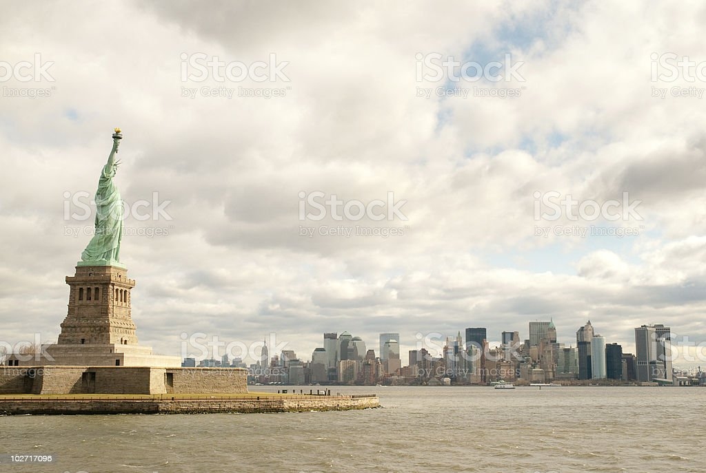 Statue of Liberty National Monument royalty-free stock photo