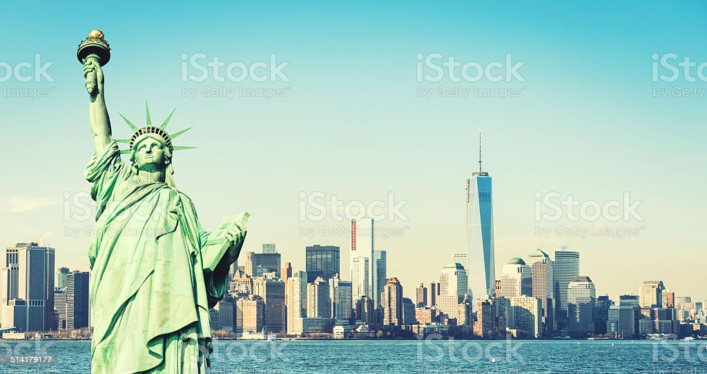 Statue of Liberty - New York City stock photo