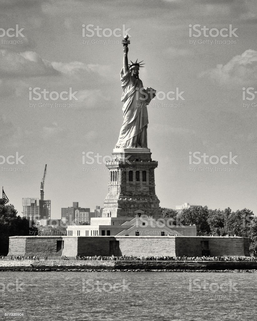 Statue of Liberty, New York Harbor, United States of America stock photo