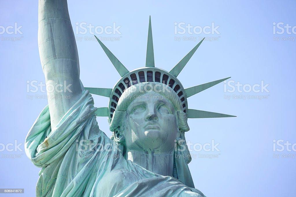 Statue of Liberty on Liberty Island NY stock photo