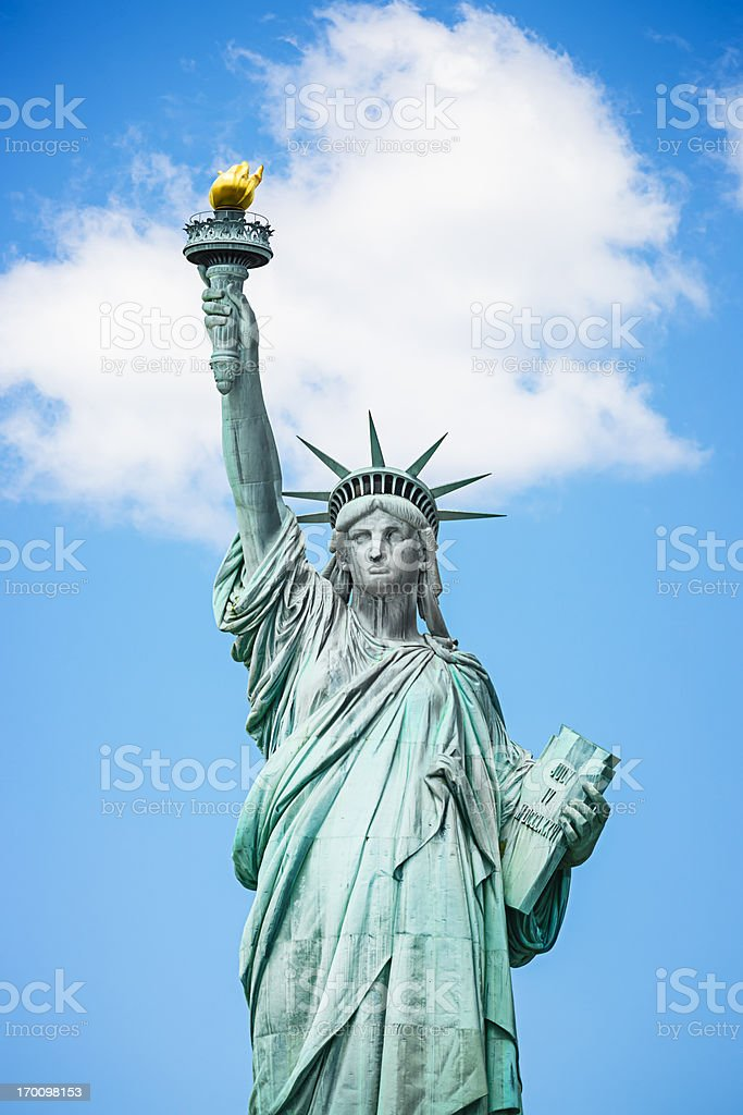 Statue of Liberty on New York City royalty-free stock photo