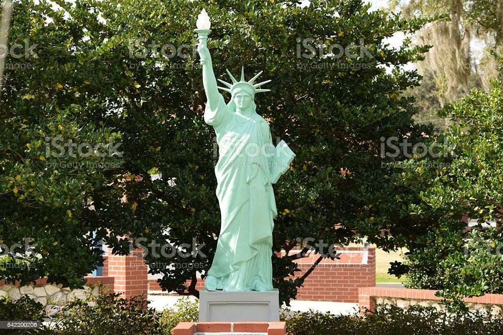 Statue of Liberty replica stock photo
