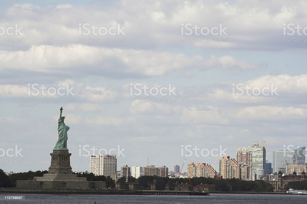 Statue of Liberty Sklyline stock photo