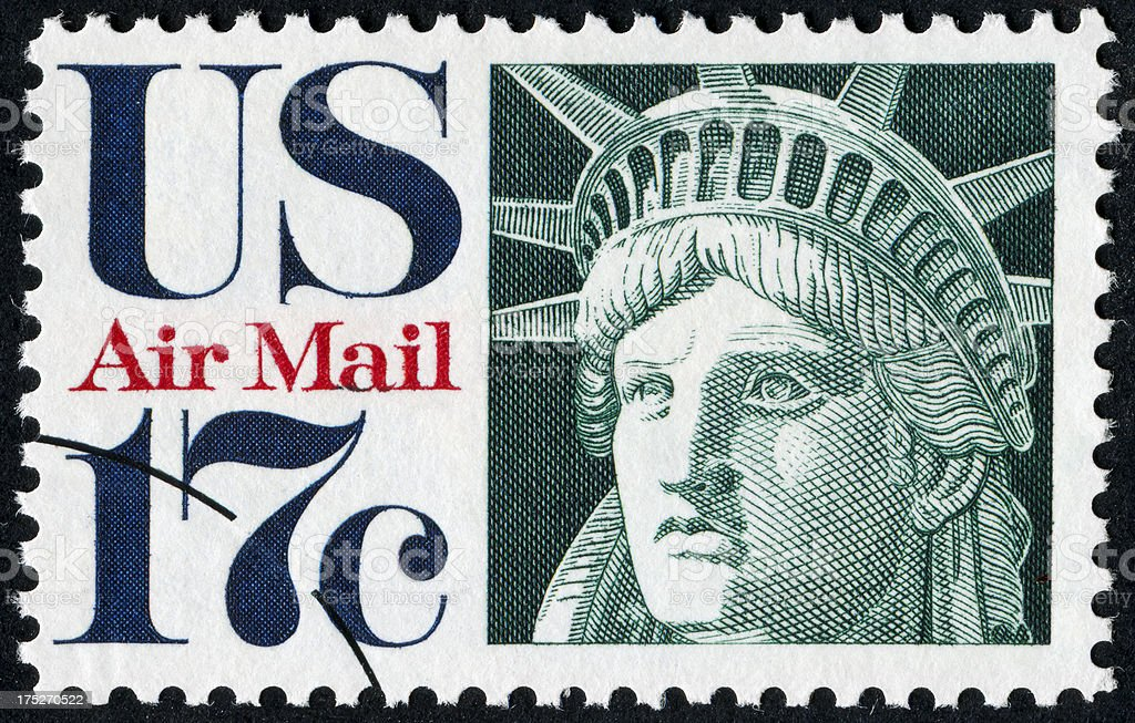 Statue Of Liberty Stamp royalty-free stock photo