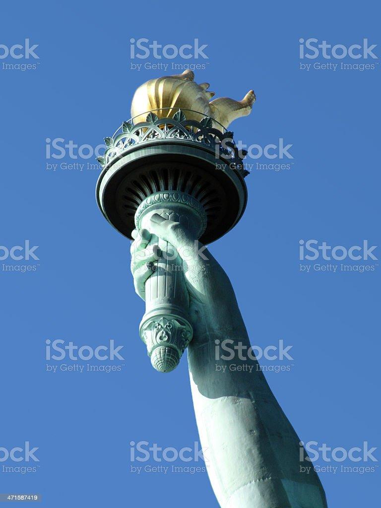 Gros plan de flamme de la Statue de la Liberté photo libre de droits