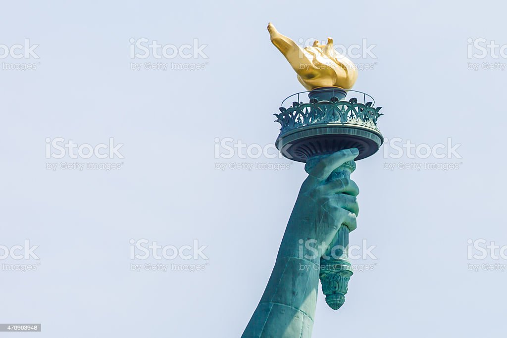 Statue of Liberty torch stock photo